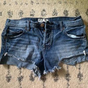 Free people jean shorts w26